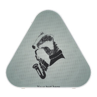 Cute Black and White Badger Sax Customizable