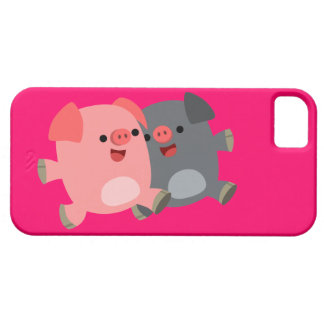 Cute Black and White Cartoon Pigs iPhone 5/5S iPhone 5 Case