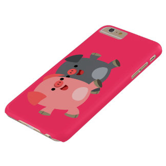 Cute Black and White Cartoon Pigs iPhone 6 Plus Barely There iPhone 6 Plus Case