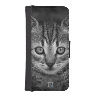 Cute black and white cat, iPhone 5/5s Wallet Case