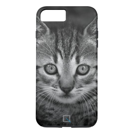 Cute black and white cat, iPhone 7 Plus Case