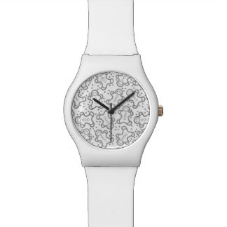 Cute Black and White Christmas Gingerbreads Watch