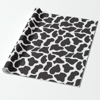 Cute Black and White Cow Print Wrapping Paper