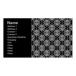 Cute Black and White Damask Pattern Pack Of Standard Business Cards