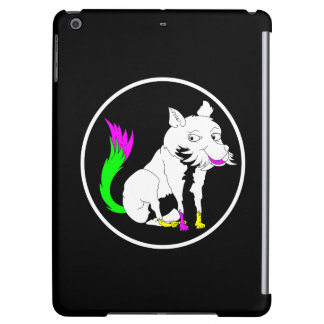Cute Black and White Fox With a Colorful Tail