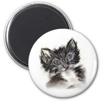 Cute Black and White Kitten Refrigerator Magnets