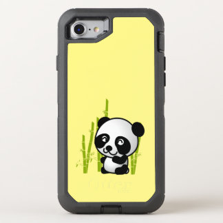 Cute Black and White Panda Bear in Bamboo OtterBox Defender iPhone 7 Case