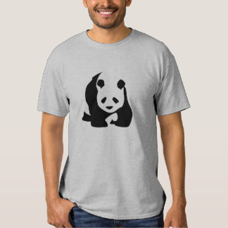 Cute Black and White Panda Bear Tee Shirts