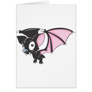 Cute Black Bat Vampire Cartoon Shirt Greeting Card