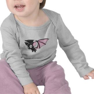 Cute Black Bat Vampire Cartoon Shirt