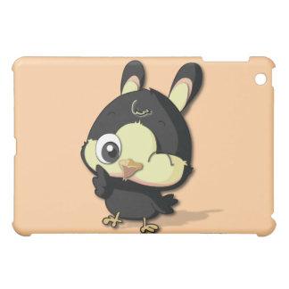 Cute Black Bird Funny Cartoon Character iPad Case