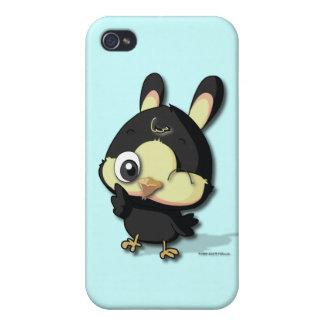 Cute Black Bird Funny Cartoon Kawaii iPhone Case iPhone 4/4S Cases