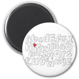 cute black border alphabet pattern magnet