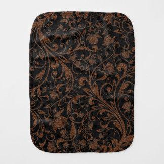 Cute  black brown tiger floral pattern burp cloth