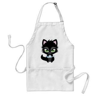 Cute black cat and fish standard apron