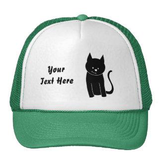 Cute Black Cat Cap