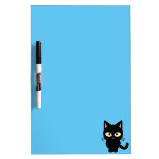 Cute black cat cartoon Dry-Erase board