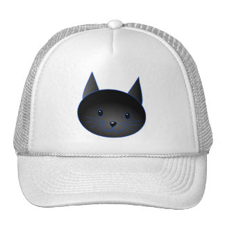 Cute Black Cat. Cat Cartoon illustration. Hat