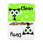 Cute Black Cat Clean / Dirty Dishwasher Magnet