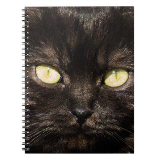 Cute Black Cat Face Notebook