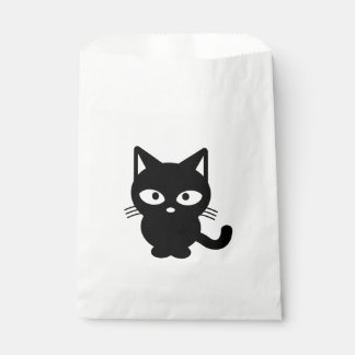 Cute Black Cat Kitty Halloween Favour Bags