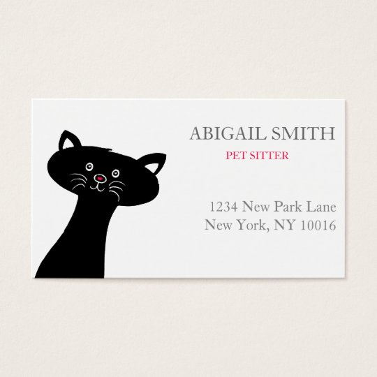 Cute Black Cat- Personalised Business Card