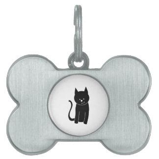 Cute Black Cat. Pet Tag