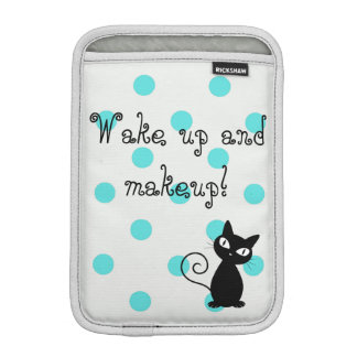Cute Black Cat,Polka Dots-Wake up and makeup! iPad Mini Sleeve