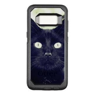 Cute Black Cat Portrait OtterBox Commuter Samsung Galaxy S8 Case