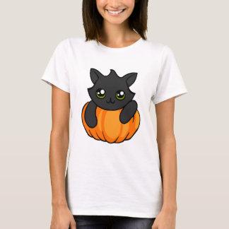 Cute Black Cat Pumpkin Drawing Halloween Shirt