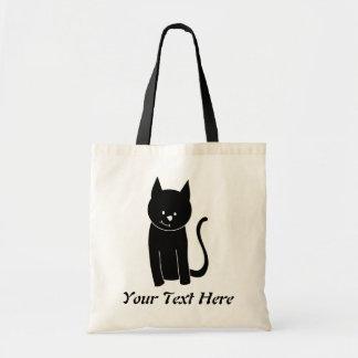 Cute Black Cat Tote Bag