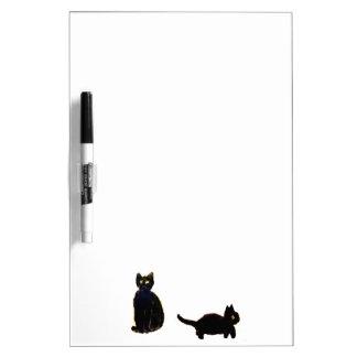 Cute Black Cats Art Dry Erase Board