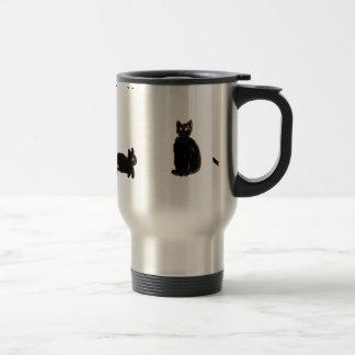 Cute Black Cats Art Stainless Steel Travel Mug