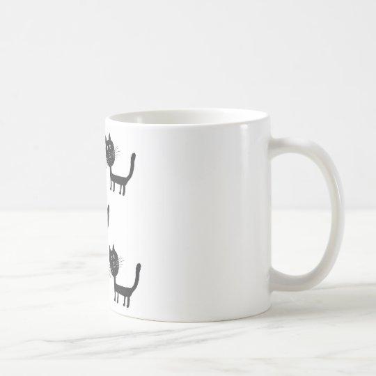 Cute black cats art Mug