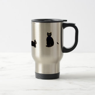 Cute Black Cats Stainless Steel Travel Mug