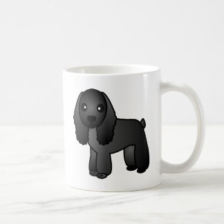 Cute Black Cocker Spaniel Cartoon Coffee Mug