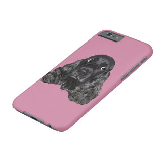 Cute Black Cocker Spaniel Dog Portrait Print Barely There iPhone 6 Case