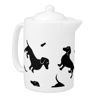 Cute Black Dachshund Pattern