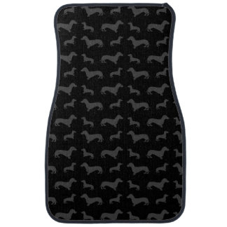 Cute black dachshund pattern car mat