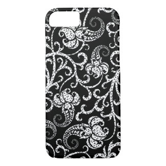 Cute black dalmatian flowers background design iPhone 7 case