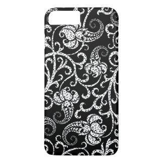 Cute black dalmatian flowers background design iPhone 7 plus case