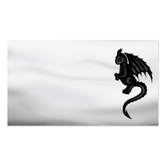 cute black Dragon businesscards Pack Of Standard Business Cards