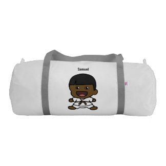 Cute Black Karate Boy Duffel Bag