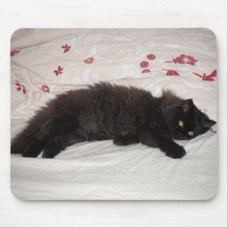 Cute Black Kitten Mouse Pad