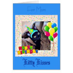 Cute Black Kitty Birthday Greeting Card