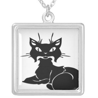 Cute Black Kitty Necklaces