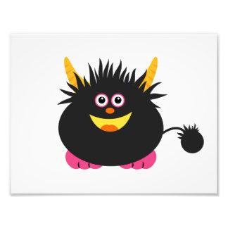 Cute Black Monster Photo Print