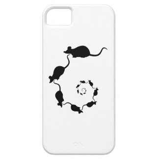 Cute Black Mouse Design. Spiral of Mice. iPhone 5 Cases