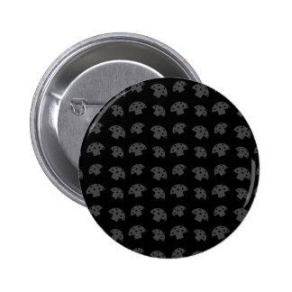 Cute black mushroom pattern 6 cm round badge