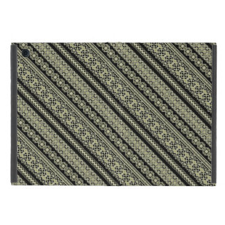 Cute black olive ukraine ornament background iPad mini case